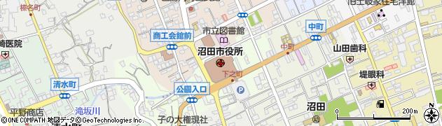 群馬県沼田市周辺の地図