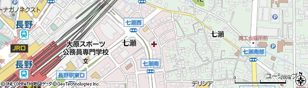 長野県長野市鶴賀(七瀬)周辺の地図
