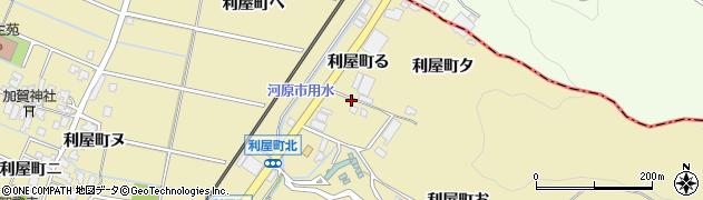 石川県金沢市利屋町(る)周辺の地図