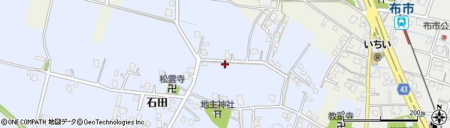 富山県富山市石田周辺の地図