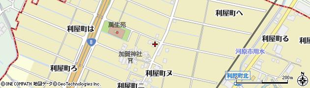 石川県金沢市利屋町(は)周辺の地図