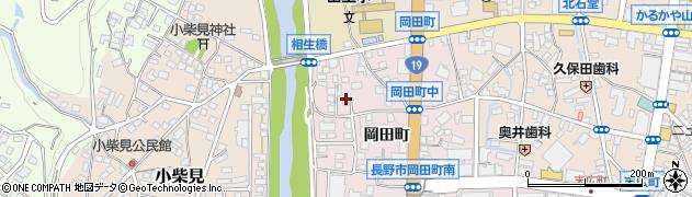 長野県長野市中御所(岡田町)周辺の地図