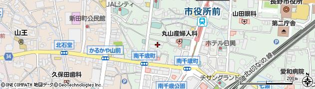 長野県長野市鶴賀南千歳町周辺の地図
