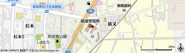 富山県砺波市周辺の地図