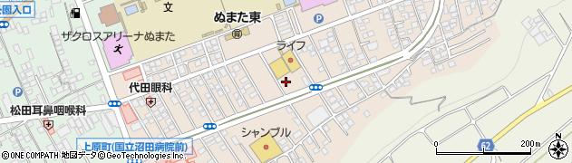 群馬県沼田市上原町周辺の地図