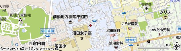群馬県沼田市東倉内町周辺の地図