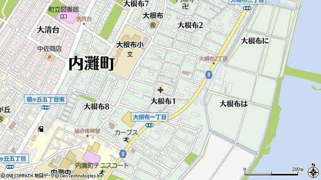 〒920-0266 石川県河北郡内灘町大根布の地図