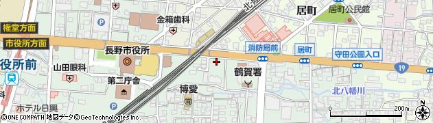 長野県長野市鶴賀周辺の地図