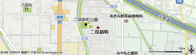 富山県富山市二俣新町周辺の地図