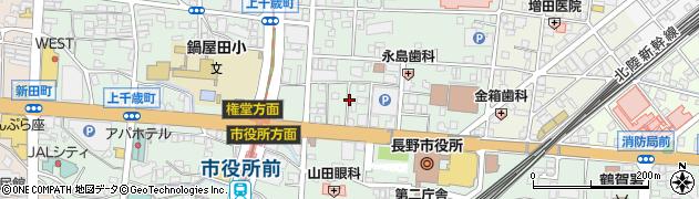 長野県長野市鶴賀緑町周辺の地図