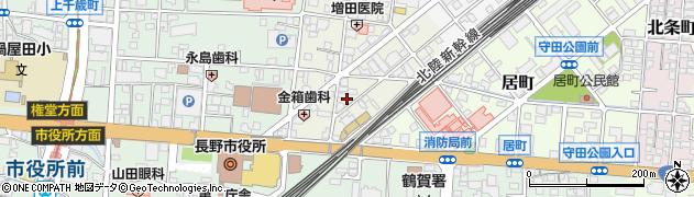 長野県長野市早苗町周辺の地図