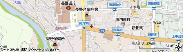 長野県長野市南長野南県町周辺の地図
