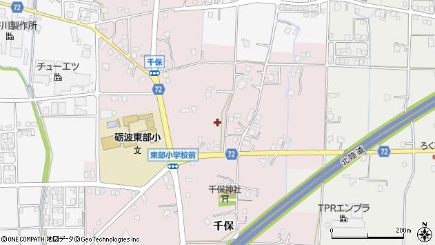 〒939-1305 富山県砺波市千保の地図