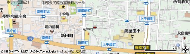 長野県長野市鶴賀問御所町周辺の地図
