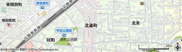長野県長野市北条町周辺の地図