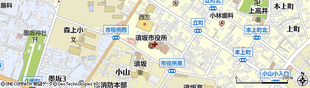 長野県須坂市周辺の地図