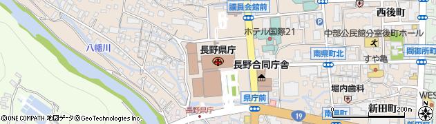 長野県周辺の地図