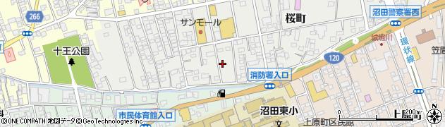群馬県沼田市桜町周辺の地図