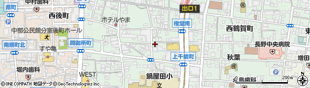 長野県長野市鶴賀権堂町周辺の地図
