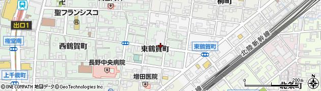 長野県長野市鶴賀東鶴賀町周辺の地図