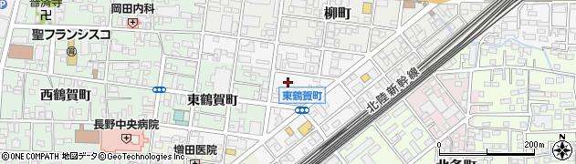 長野県長野市東鶴賀町周辺の地図