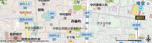 長野県長野市南長野西後町周辺の地図
