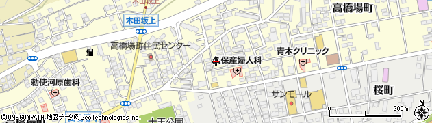 群馬県沼田市高橋場町周辺の地図