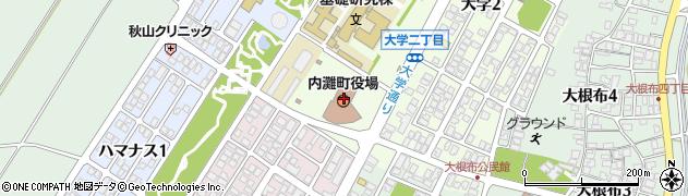 石川県河北郡内灘町周辺の地図