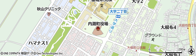 石川県内灘町(河北郡)周辺の地図