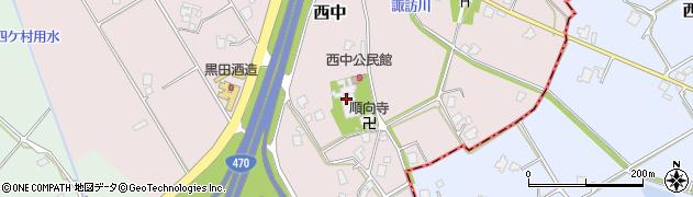 願称寺周辺の地図