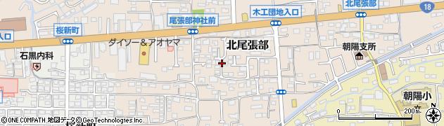 長野県長野市北尾張部周辺の地図