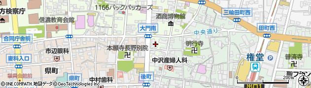 長野県長野市長野東後町周辺の地図