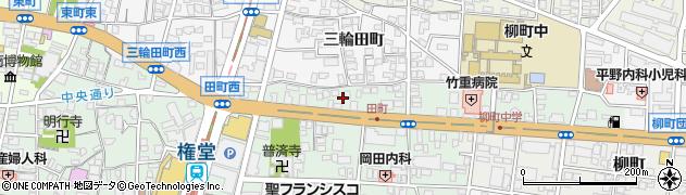 長野県長野市鶴賀田町周辺の地図