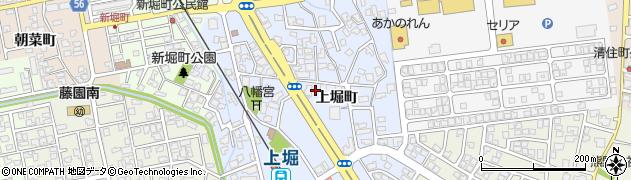 富山県富山市上堀町周辺の地図
