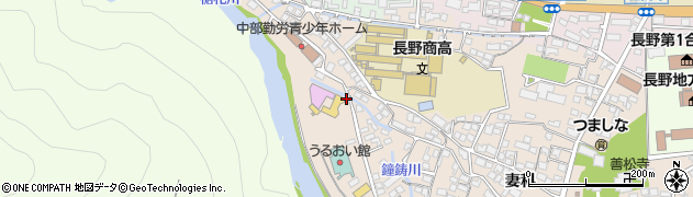 長野県長野市妻科周辺の地図