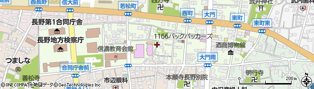 長野県長野市長野長門町周辺の地図