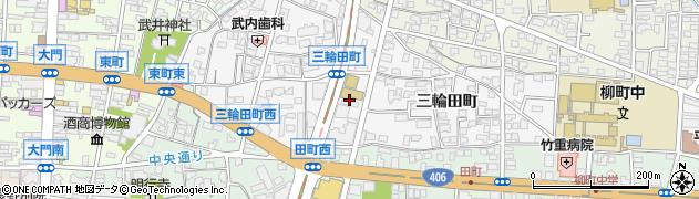 長野県長野市三輪(三輪田町)周辺の地図