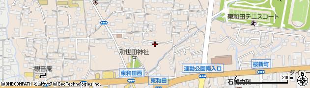 長野県長野市東和田周辺の地図