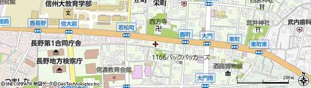 長野県長野市長野若松町周辺の地図