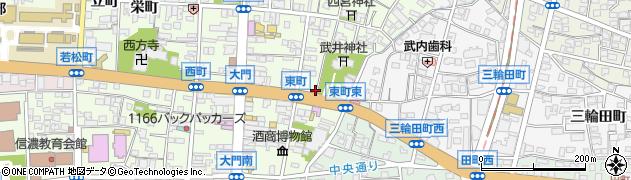 長野県長野市長野(東町)周辺の地図