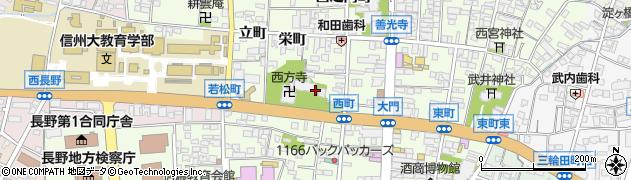 長野県長野市長野西町周辺の地図