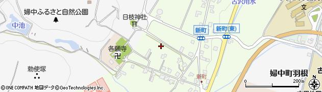 富山県富山市婦中町新町周辺の地図