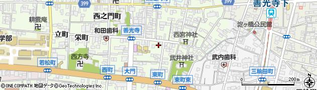 長野県長野市長野横町周辺の地図