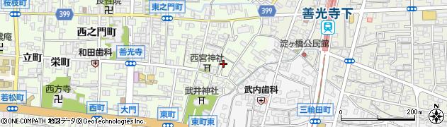 長野県長野市長野岩石町周辺の地図
