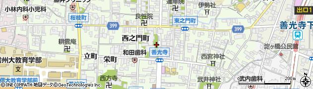 長野県長野市長野周辺の地図