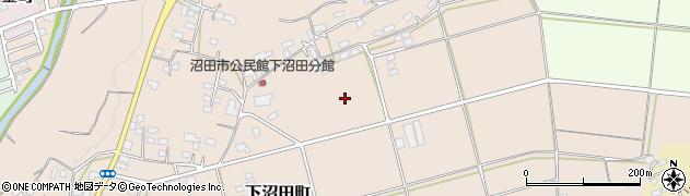 群馬県沼田市下沼田町周辺の地図