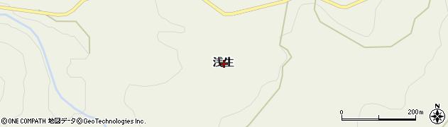 富山県中新川郡上市町浅生周辺の地図