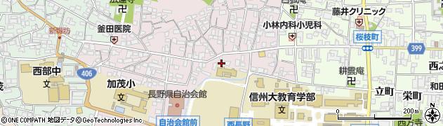 長野県長野市西長野町周辺の地図