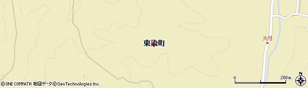 茨城県常陸太田市東染町周辺の地図