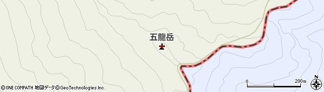 五龍岳周辺の地図
